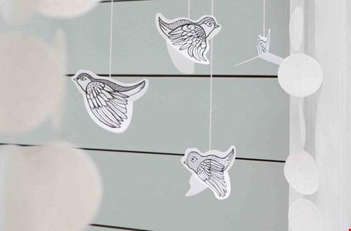 Vogel Girlande aus Papier