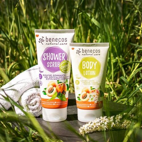 Benecos Shower Scrub Aprikose und Holunder